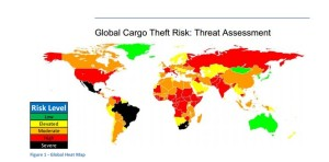 Global Cargo Theft Risk by Country. Source: Freight Watch Int'l
