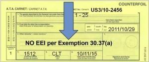 NO EEI per Exemption 30.37(a)
