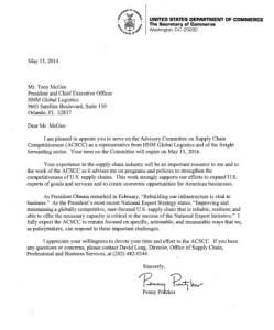 ACSCC appointment letter