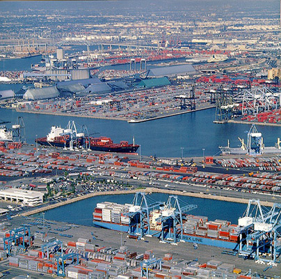 Port Of Long Beach Arial Shot